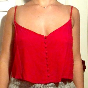 Forever 21 Red crop tank